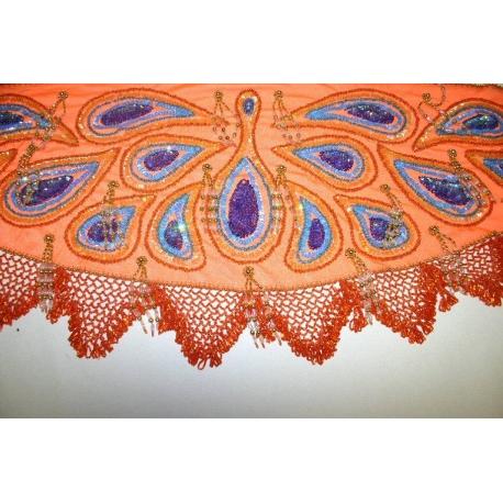 Schmetterling Hüfttuch mit Glasperlen