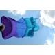 Fächerschleier *lila-blau-türkis*