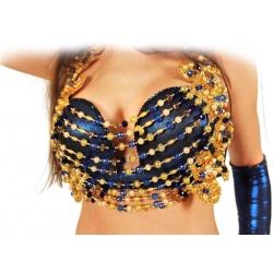 Bauchtanz-Kostüm mit ausgefallenem Dekolleté