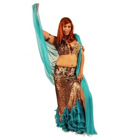 Meerjungfrauen-Bauchtanz-Kostüm