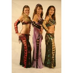 Zweifarbiges Bauchtanz-Kostüm