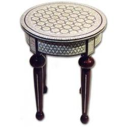G201: Runder Tisch aus Perlmutt